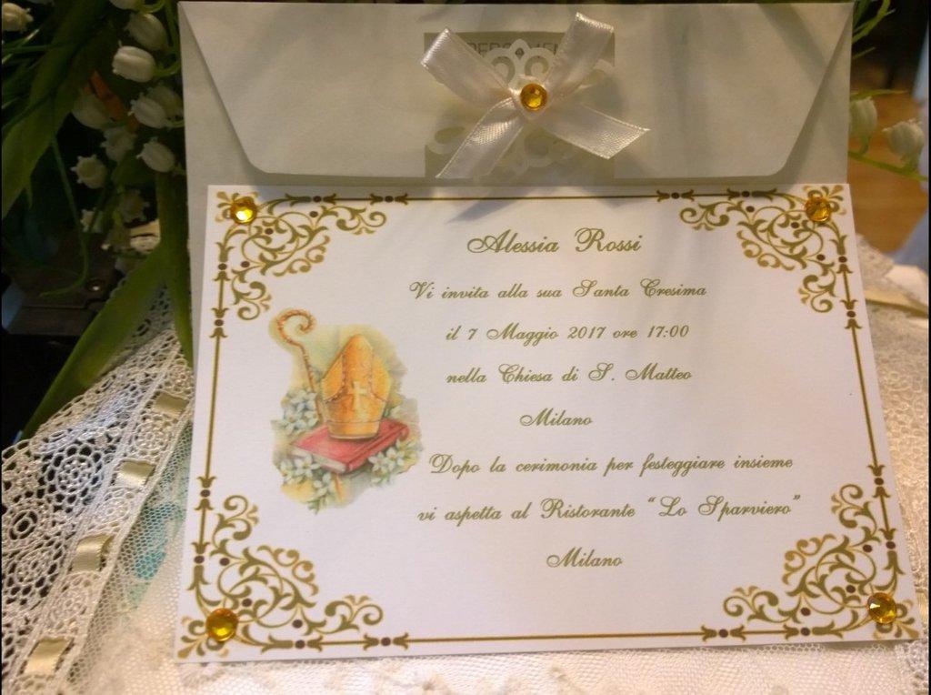 Invito Santa Cresima Personalizzato
