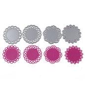 Fustelle in metallo piccoli centrini ft32