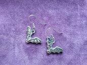 *Coppia di orecchini con pipistrello - Bat earrings*
