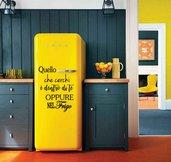 Frase filosofica adesiva per frigo e cucina