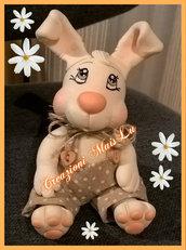 Bunny coniglio decorativo in pasta di mais