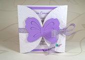 Invito Farfalla effetto rilievo