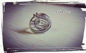 Anello in alluminio (MISURA PERSONABILIZZABILE) tecnica wire