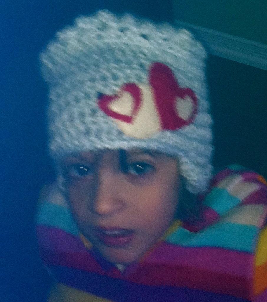 Alpaca Heart Hat