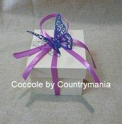 bomboniera matrimonio scatolina con farfalla