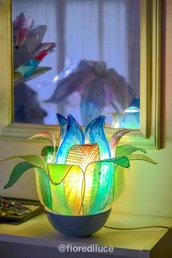 "Lampada fiore di loto: ""Laguna Silenziosa"" / Spedizione gratuita"
