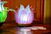 """Lampada fiore di loto:  """"Viola, Azzurro, Rosa etc. / spedizione gratuita"""