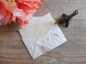Buste 10 pezzi set mini in carta naturale decorate con fiori secchi