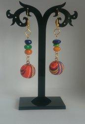 Orecchini di perline  in stoffa