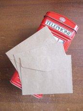Buste 10  pezzi set in carta kraft 10 x 7,5 cm