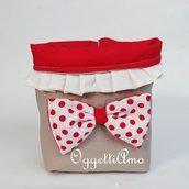 Un sacchetto porta pane originale per decorare la tua tavola: un cestino per il pane in stoffa.