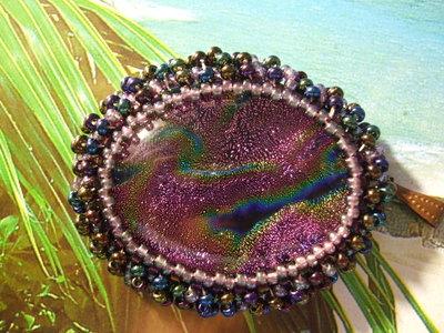 Ciondolo vetro oro-rosa-viola-lilla