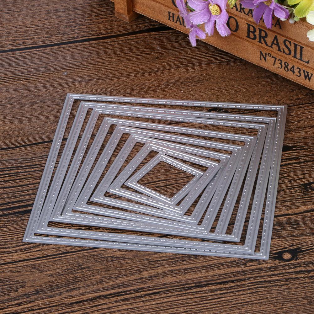Fustelle in metallo 8 pezzi set quadrati