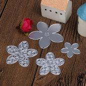 Fustelle in metallo 4 pezzi set fiori