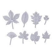 Fustelle in metallo 8 pezzi set foglie