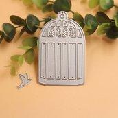 Fustelle in metallo 2 pezzi set gabbia con uccellino