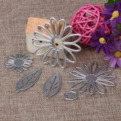 Fustelle in metallo fiori e foglie ft6
