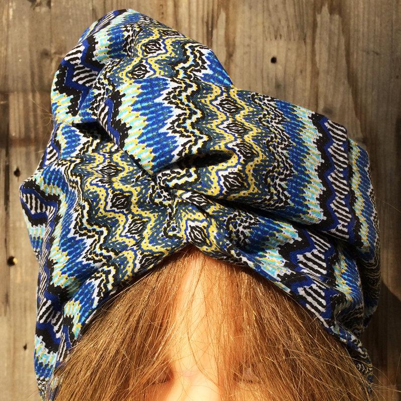 Fascia per capelli modellabile in stoffa: i colori dell'Africa