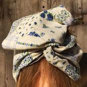 Fascia per capelli modellabile in stoffa: i colori della Provenza