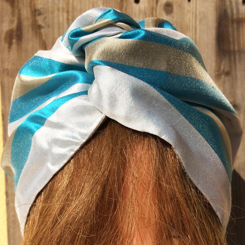 Fascia per capelli modellabile in stoffa: voglia di mare