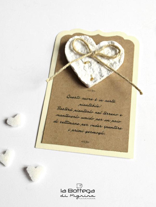 Segnaposto Matrimonio Di Carta.Segnaposto Con Decoro In Carta Piantabile Feste Matrimonio