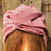 Fascia per capelli modellabile in stoffa: righe, righe e ancora righe!