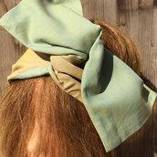 Fascia per capelli modellabile in stoffa double face 02