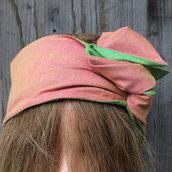 Fascia per capelli modellabile in stoffa double face 03