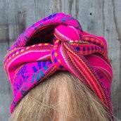 Fascia per capelli modellabile in stoffa invernale: dal Perù