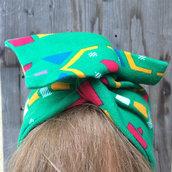 Fascia per capelli piccola modellabile in stoffa invernale: colori dell'Africa