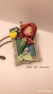 Collana Ciondolo Ariel e Flounder