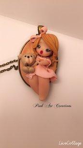 Non più disponibile - Collana doll con orsacchiotto