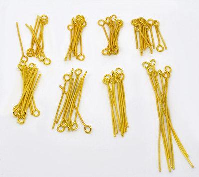 Lotto 800 Chiodini con occhiello Mix di Misure tra  16 mm e 5 cm bomboniera bomboniere  per bigiotteria, collane portachiavi, orecchini  chiudipacco