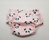 Mutandina copripannolino con panda su sfondo rosa