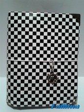 Astuccio KALLIDORI per traveler's notebook pocket in stile optical fatta a mano in gomma eva  colore grigio e carta adesiva