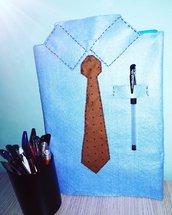 Copriagenda camicia con taschino portapenna