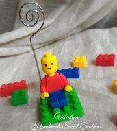 Portafoto bomboniera omino lego