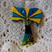 Piccolo tao a forma di croce di ceramica ciondolo,  bomboniera con motivo cielo raggi di sole fiori prato