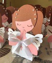 Scatola scatoline bomboniera (0,90pz)sacchetto porta-confetti comunione bimba