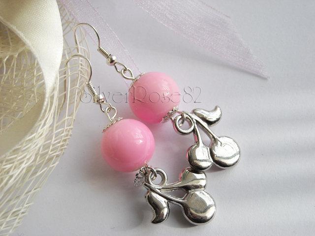Orecchini Perle Rosa e Ciliegine
