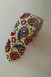 Cravatta cotone fantasia