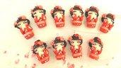 INSERZIONE RISERVATA PER MITSUHA - 25 kokeshi rosse in fimo - laurea