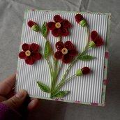 Card fiori quilling • Biglietto festa della mamma