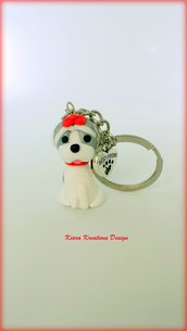 Portachiavi Shih Tzu in fimo, miniatura shih tzu, regalo compleanno, regalo shih tzu, regalo cane, appassionati di cani, gioielli animali
