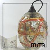 Lampadario a Sospensione in vetro di Murano, Formentello, originale, fatto a mano