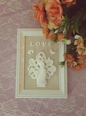 Bomboniera cornice con albero della vita e sposi