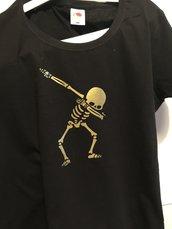 T-Shirt Donna Oro su Nero - DAB