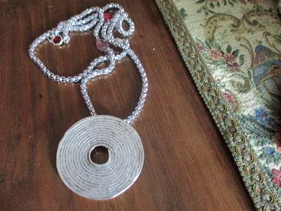 Collana metallo argentato