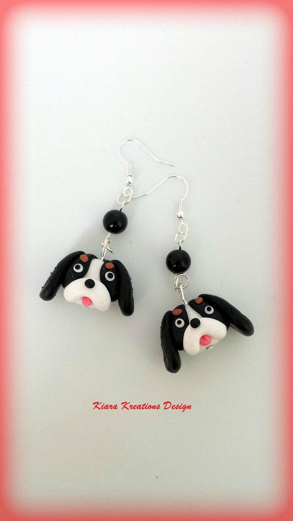 Orecchini Cavalier King Charles in fimo, miniatura cavalier, regalo compleanno, regalo cane, appassionati di cani, gioielli animali
