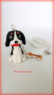 Collana Cavalier King Charles in fimo, miniatura cavalier, regalo compleanno, regalo cane, appassionati di cani, gioielli animali
